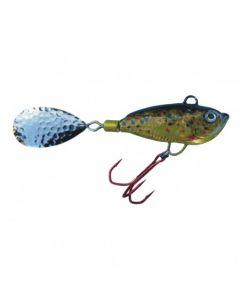 Spinner Jig mit Fischdekor Bachforelle / Blatt gold 40g