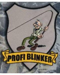 Profi Blinker Aufnäher beige Original-Logo
