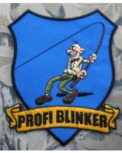 Profi Blinker Aufnäher blau Original-Logo