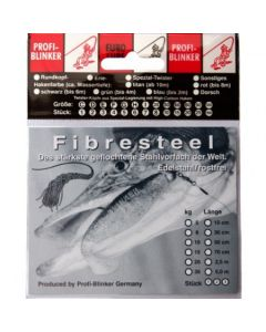 Fibresteel Montage mit Schlaufe und Wahnsinnshaken 30cm 5kg