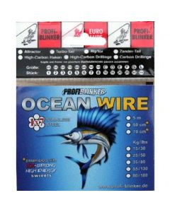 5m Ocean-Wire Stahlvorfächer - 35kg Tragkraft