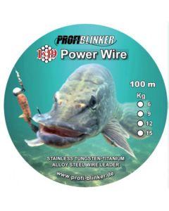 Power-Wire Stahlvorfächer 100 Meter - 15kg Tragkraft bronze