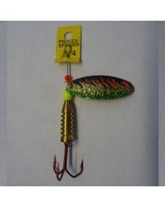Prolex Spinner Oval- Effektlackierung gold fluogrün Größe 3
