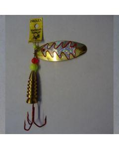Oval - gold Reflexfolie silber metallic Größe 4