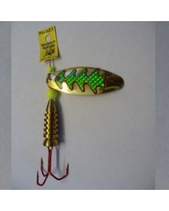 Oval - gold Reflexfolie grün metallic Größe 6