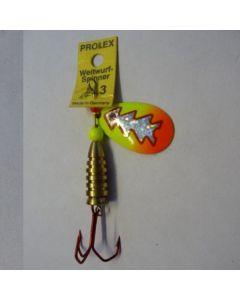 Prolex Spinner Tropfen - Fluo mit Reflexfolie silber metallic Größe 4