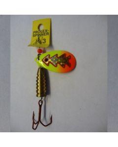 Prolex Spinner Tropfen - Fluo mit Reflexfolie gold metallic Größe 6