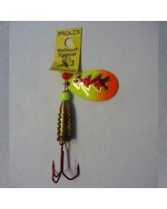 Prolex Spinner Tropfen - Fluo mit Reflexfolie rot metallic Größe 5
