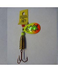 Prolex Spinner Tropfen - Fluo mit Reflexfolie grün metallic Größe 4