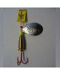 Profi Blinker Prolex Spinner Tropfen silber - gehämmert Größe 12