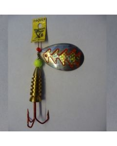 Spinner Tropfen - silber Folie gold metallic Größe 5