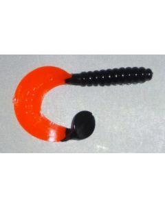 Profi Blinker Turbotail (B) 7cm schwarz-rot 8er Pack