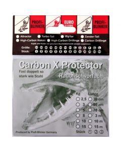 Carbon X Montage mit Schlaufe und Drilling 50cm 8kg