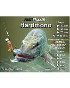Hardmono-Vorfach aus Fluocarbon 50cm, Ø 0,60mm 3 Stück