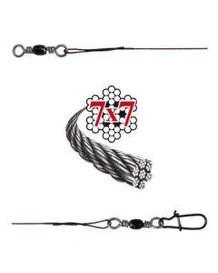 Soft-Wire Fertigmontage 7x7 mit Wirbel und Snap bronze 70cm Größe 15