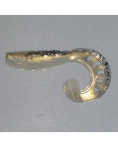 Profi Blinker Zandertail Kristallweiß (D) 10cm / 5er Pack